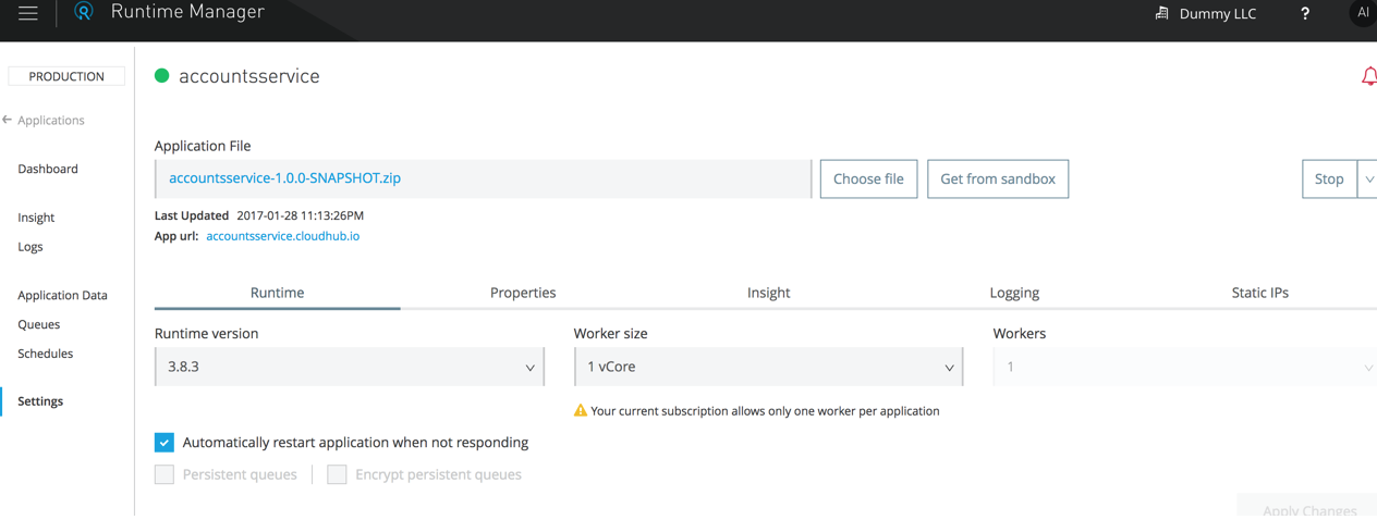 Deploy the application in CloudHub - Technical